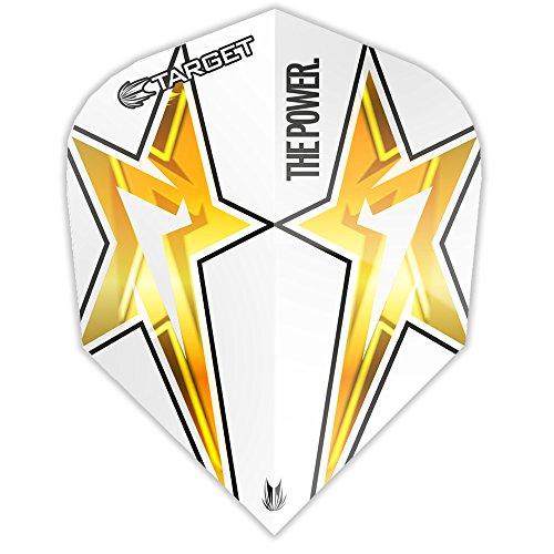 Phil Taylor Dart Flights, Power Star-G3-STD weiß-10Sets (30)-mit Darts Ecke Checkout-Karte
