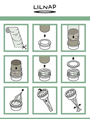 LILNAP Universal Nachfüllfolie für Sangenic Windeltwister Tommee Tippee & TEC, Angelcare und Litter Locker inklusive Papphülse als Nachfüllhilfe | EVOH - Beschichtung zur Geruchsminderung (200m + Papphülse)