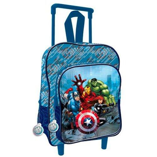 Avengers zaino zainetto trolley scuola materna ,asilo con box portamerenda