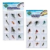 Behr Spezial Fliegen-Set 24 Stück zum Fliegenfischen auf Forellen Bachforellen Regenbogenforellen