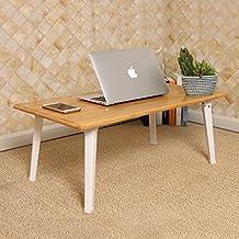 Escritorio de la computadora portátil, escritorio portátil del estudio plegable, escritorio de madera del cuaderno de bambú, escritorio simple de la computadora, para la cama o el sofá Mesa plegable ( Tamaño : 80*40*29cm )