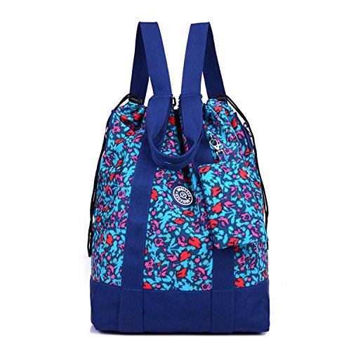 Outreo Rucksäcke Lässige Schultaschen Rucksack Damen Wasserdicht Schulrucksack Leichter Tasche Schul Daypack Kordelzug Reisetasche Backpack für Sport Mehrfarbig 5