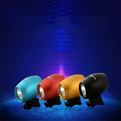 CREE LED USB carga 1200Lm bicicleta de cabeza delantera de la bicicleta de la lámpara luz de la bici de luz (negro) (Negro)