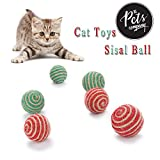 #9: Pets Cat Kitten Toy Ball, Cat Toy with Teaser Ball