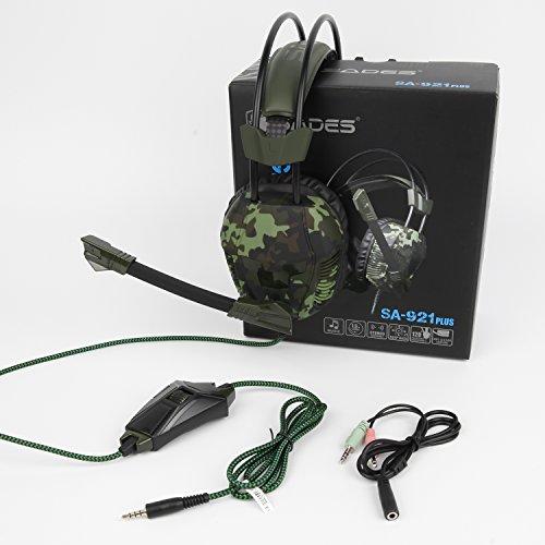 Cuffie di gioco PS4, SA921 Inoltre 3.5m Over-ear