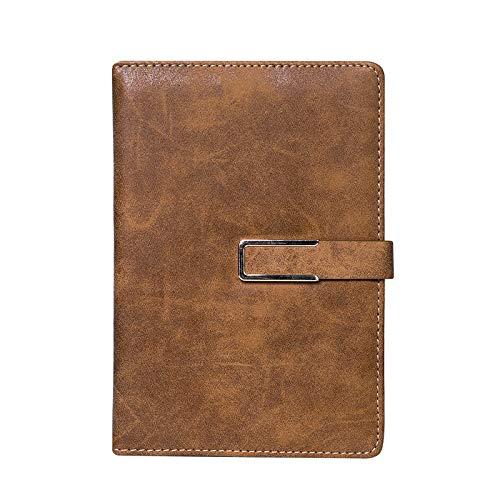JAWKOP A5 Dickes Büro Business Notebook mit Knopf, Business Tagebuch Travler Planer Notizblock Office Meeting Schreibblock -