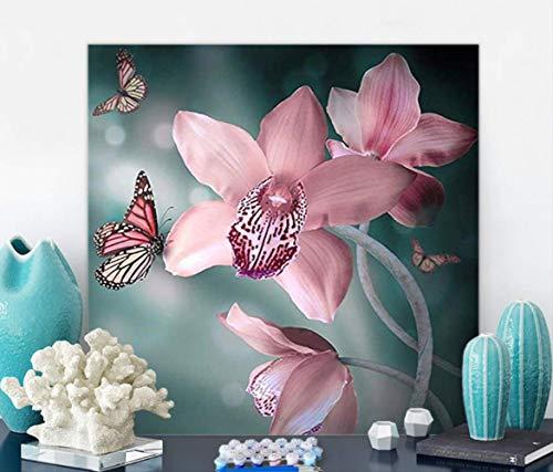 sikexia DIY Digitale Malerei Tulip Farbe Schmetterling Blume Dekoration Malerei 40X50 cm C Digitale Tulip