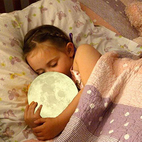 Drucken Mondlicht Nachtlicht Touch-Fernbedienung Farblicht für Schlafzimmer Dekoration Geburtstagsgeschenk direkte Waren