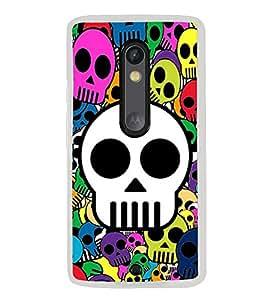Skulls in Various Colours 2D Hard Polycarbonate Designer Back Case Cover for Motorola Moto X Play