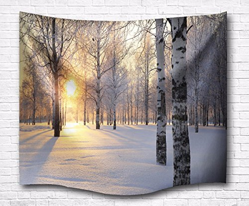 amonamour-birch-tree-invierno-blanco-snow-forest-sunshine-paisaje-impresion-de-la-pared-de-tela-tapi