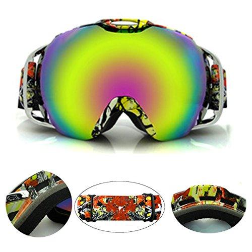 Snowboardbrille,CAMTOA Outdoor PC Sportbrille zweistöckig Weitwinkel Anti-Nebel Wasserdicht Snowboardbrille UV-Beständigkeit Stoßfest UV 400 Radsportbrille Sonnebrille für Damen Herren Jungen Mädchen