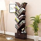 Bücherregal Floorstanding Kreativer Bücherschrank Baumform Einfach und Modern (Farbe : Black Walnut)