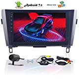 EinCar 10,1-Zoll-Auto-Stereo-Video-Player Doppel-Din-Head Unit Android 7.1 GPS-Navigation Unterst¨¹Tzung Bluetooth, Wifi, TelKonfig, SWC, OBD2, Spiegel Link Canbus + Free Wireless Rear-Kamera