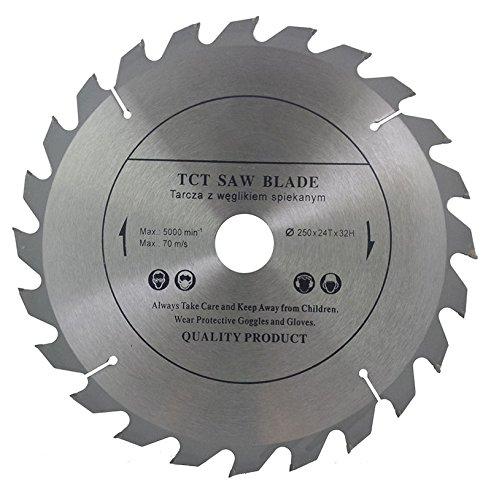 Preisvergleich Produktbild Top Qualität Kreissägeblatt (Skill Säge) 250mm x 32mm Bohrung (30mm & 28mm, 25,4mm mit Reduzierung Ringe) für Holz Trennscheiben Kreissägeblatt 250mm x 32mm x 24Zähne
