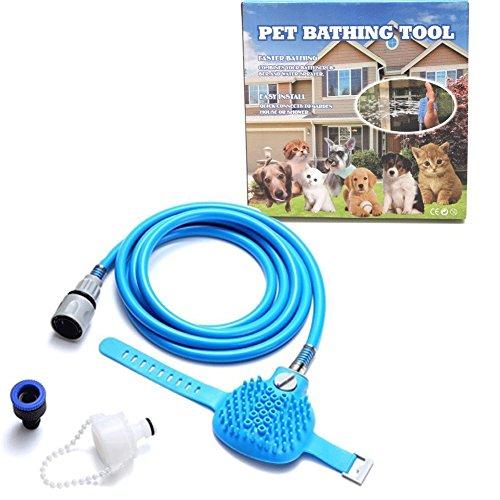 furein Bad Werkzeug für Haustiere, Schwamm reinigt Haustiere, Topflappen, Ofenhandschuh, Bürste, Schlauch, Spender Wasser reinigen, Hund, Katze, WC, Dusche, Bad
