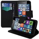 Custodia Portafoglio con Supporto, Pelle PU effetto tessuto per Microsoft Nokia Lumia 640LTE/640LTE Dual Sim/640Dual SIM