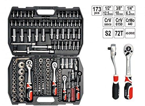 Steckschlüsselsatz Knarrenkasten Werkzeugkoffer 171 + 2 tlg
