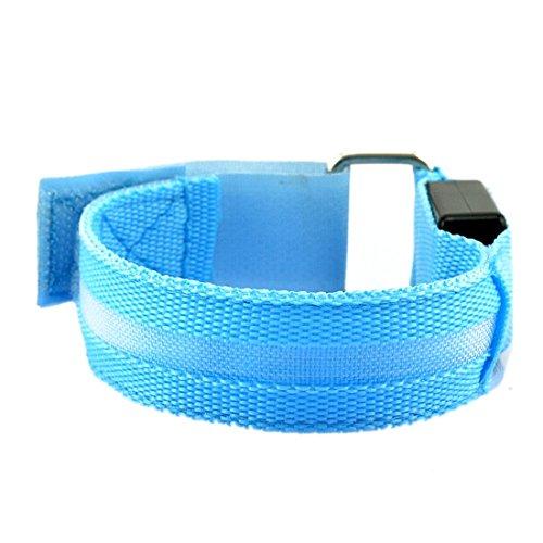 Flashing Led Light Glow Armband Belt Sport Festival lParty Fun-Blue