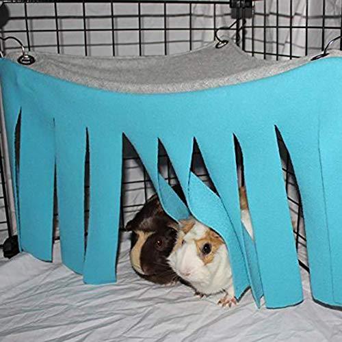 Hihey Hamster Zelt Hängematte Haustier Zubehör Nestbett für Meerschweinchen Chinchilla Igel Ratte Eichhörnchen Frettchen Zwergkaninchen -