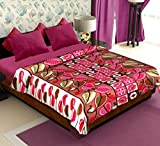 Story@Home Coral Collection Fleece Floral Pattern Polyester Double Blanket - Multicolor