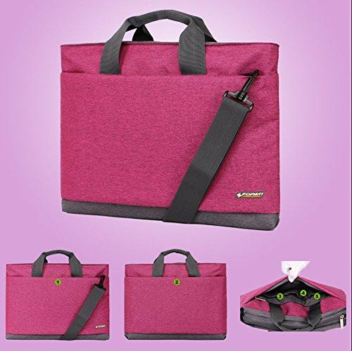 YAAGLE Laptoptasche, Tasche Hülle Aktentasche für 15 Zoll Laptop / Notebook Computer / MacBook / MacBook Pro pink grau/17 Zoll