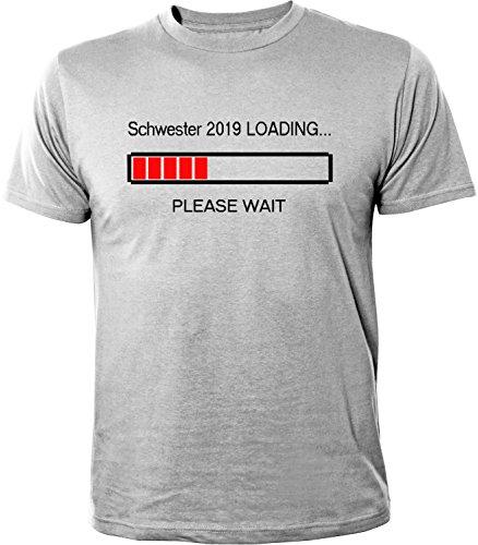 Mister Merchandise Herren Men T-Shirt Schwester 2019 Loading Tee Shirt bedruckt Grau