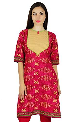 Bimba magenta courte kurta coton régulier s tous les jours casual tunique kurti Magenta