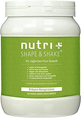 Nutri-Plus Shape & Shake Soy/Soya free - Gluten free - Vegan Pea-Rice-Protein without aspartame & lactose