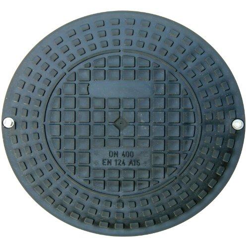 Schachtabdeckung rund für Kanalschachtrohr Innendurchmesser 400mm aus Kunststoff