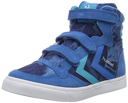 Hummel Hummel St Jr Tie Dye Denim Hi, Baskets Mixte Enfant Bleu (Brilliant Blue 7359)