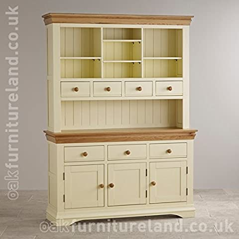 Country Cottage Natural Oak and Painted Large Dresser
