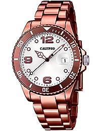 Calypso–Reloj de pulsera analógico para mujer cuarzo plástico k5646/4