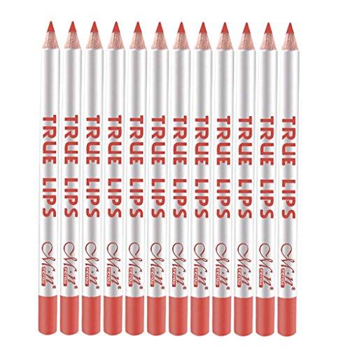 Baoblaze 12pcs Etanche Lip Liner Crayons à levres Léger Durable Multifonctionnel pour Décoration - 50