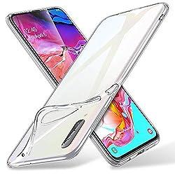 ESR Hülle kompatibel mit Samsung Galaxy A70 Hülle - Weiche Flexible Silikon Handyhülle - Essential Zero TPU Transparente Schutzhülle mit Kameraschutz und Mikrodot Muster- Klar