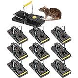 SANFR Trampa Ratones,10 Piezas Trampa para Ratas Ratoneras Trampas Reutilizables Control de Roedores Asesino Mouse Trap Alta sensibilidad Snap Trap Ratonera