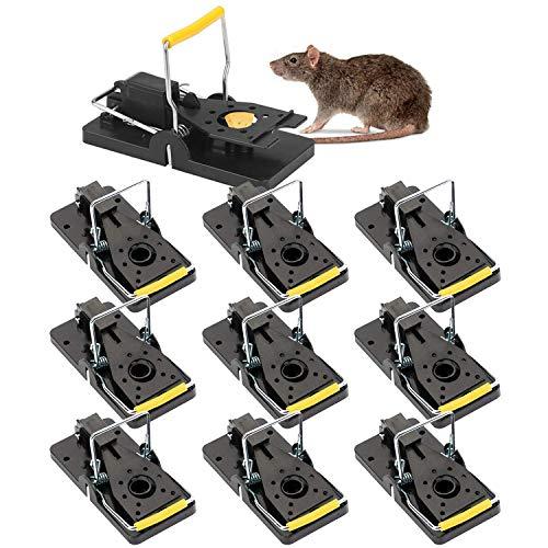 SANRF Trampa Ratones,10 Piezas Trampa para Ratas Ratoneras Trampas Reutilizables Control de Roedores Asesino Mouse Trap Alta sensibilidad Snap Trap Ratonera
