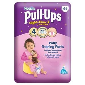 Huggies Pull Ups Nightime Potty Training Pants for Girls - Small (8-15 kg), 14 x 3 Packs (42 Pants)