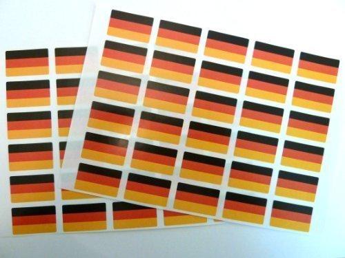 Paquete de 60 , 33x20mm , Alemania Auto-adherente Bandera Pegatinas , autoadhesivo Alemán Bandera Etiquetas