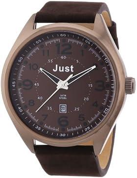 Just Watches Herren-Armbanduhr XL Analog Quarz Leder 48-S1231-BR