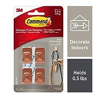 Command 17032C-4ES Wall Hooks, Small, Copper