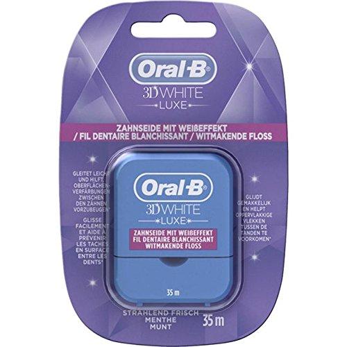 Oral B 3D White Luxe Zahnseide mit Weißeffekt. Spar-Set 3x35m