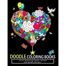 Doodle Coloring Books: Adult Coloring Books: Relax on an Intergalactic Journey through the Universe and Cute Monster