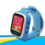 Auntwhale 1 Stück Smart Watch Positionierung Voice Call wasserdicht Doppelfarbband Blau/Orange/Pink