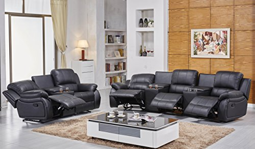 Ledersofas Kinosofas Relaxcouch Fernsehsofas 5129-Cup-3+2-S