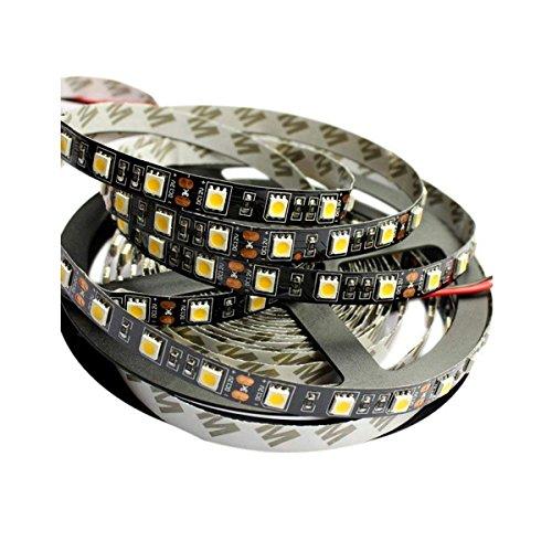 Tesfish 5M wärmen weiß Farbe Schwarzes PCB Brett 5050 LED Streifen Licht wasserdichtes IP20 300 SMD DC 12V Streifen licht