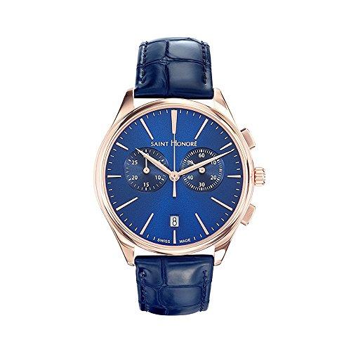 Men Watch Monceau Saint Honoré and Blue Leather Bracelet - STH - 885017 8DIR - BLUE PEARLS