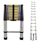 LARS360 Teleskopleiter Multifunktionsleiter Ausziehleiter Anlegeleiter Mehrzweckleitern Hochwertigem aluminium Leiter (3.8m)