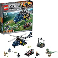 LEGO 75928 Jurassic World Blue's Helicopter Pursuit, Owen and Blue Figures, Dinosaur and Helicopter Toys, Fallen Kingdom Movie Sets