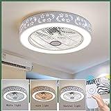 Ventilatori A Soffitto Con Lampada, LED Creativo Ventilatore A Soffitto Illuminazione Con Telecomando Dimmerabile Fan Lampadario Ultra-silenzioso, Soggiorno Moderno Camera Dei Bambini Illuminazione