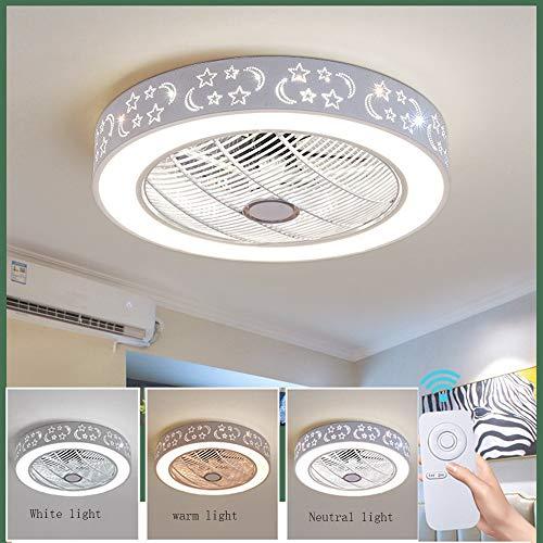 Beleuchtung, Kreative LED Deckenventilator Lampe Mit Fernbedienung Dimmbar Leiser Lüfter Kronleuchter, Moderne Wohnzimmer Schlafzimmer Kinderzimmer Fan Beleuchtung Dekoration ()